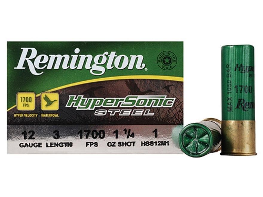"""Remington HyperSonic Ammunition 12 Gauge 3"""" 1-1/4 oz #1 Non-Toxic Shot"""