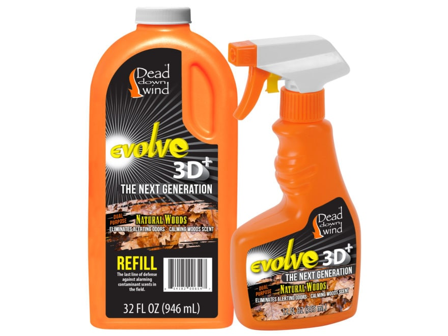 Dead Down Wind Evolve 3D+ Scent Elimination Field Spray Combo Natural Woods Scent 44 oz