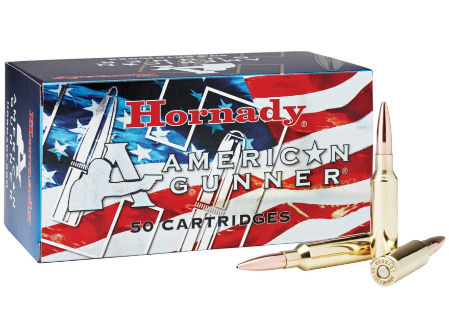 Hornady American Gunner Ammunition 6.5 Creedmoor 140 Grain Hollow Point Boat Tail Box o...