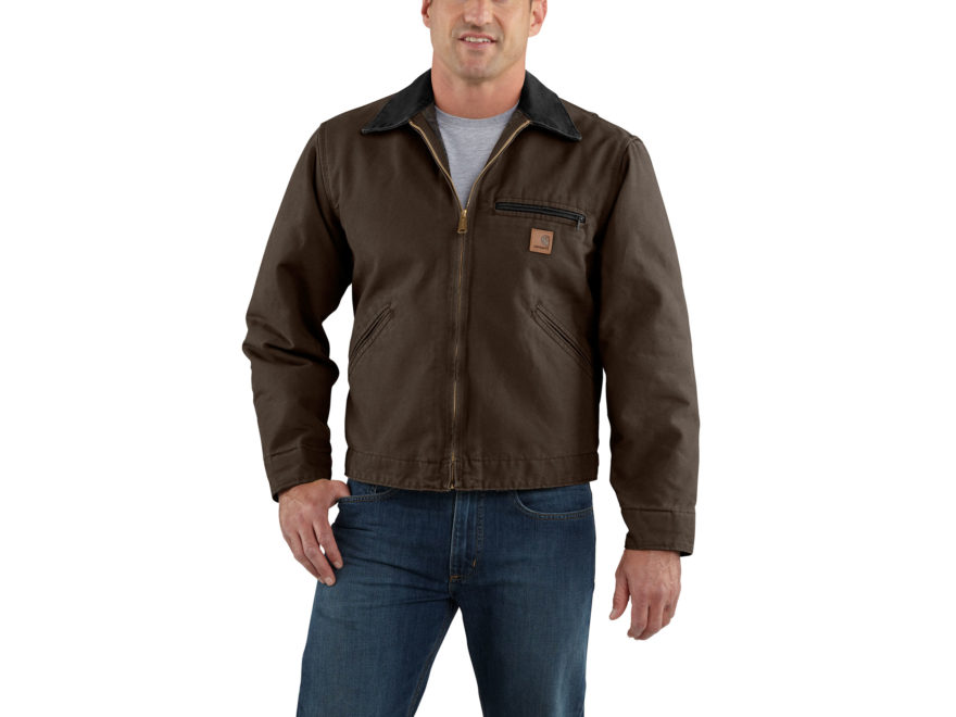 Carhartt Men's Sandstone Detroit Blanket-Lined Jacket Cotton