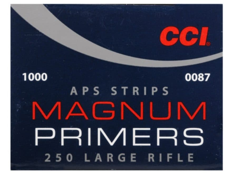 CCI Large Rifle APS Magnum Primers Strip #250 Box of 1000 (40 Strips of 25)
