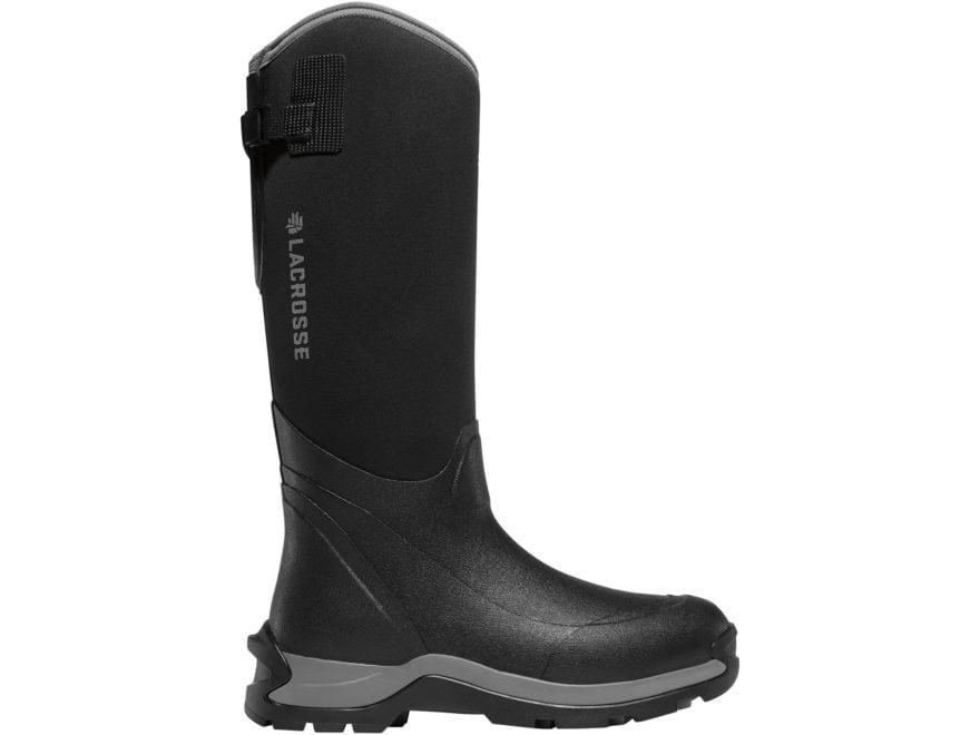 "LaCrosse Alpha Thermal 16"" Non-Metallic Safety Toe Work Boots Neoprene/Rubber Black Men's"