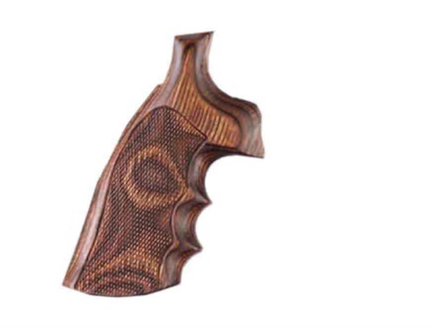 Hogue Fancy Hardwood Grips with Finger Grooves Ruger GP100, Super Redhawk Checkered