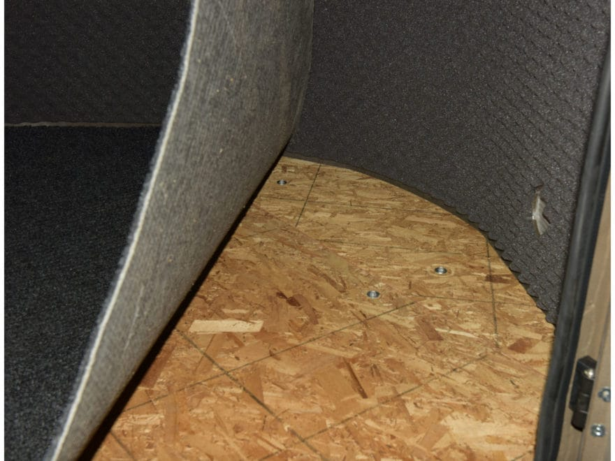 Banks Outdoors Stump Box Blind Floor Mat Rubber Gray