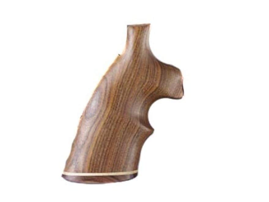 Hogue Fancy Hardwood Grips with Accent Stripe and Top Finger Groove Colt Anaconda, King...