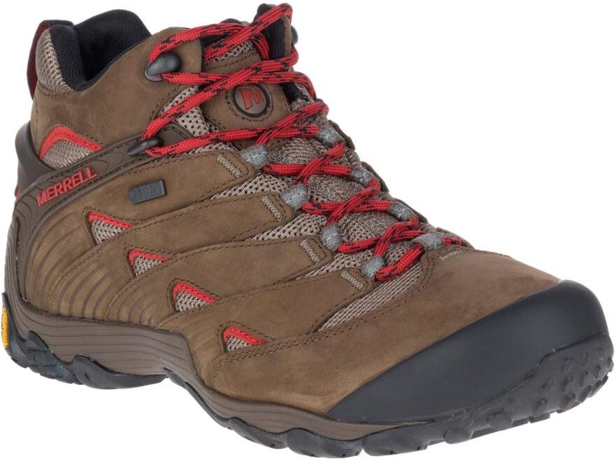 """Merrell Chameleon 7 Mid 5"""" Hiking Boots Leather/Nylon Men's"""