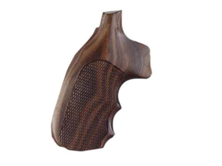 Hogue Fancy Hardwood Grips with Finger Grooves Colt 38 SF-VI Checkered Pau Ferro