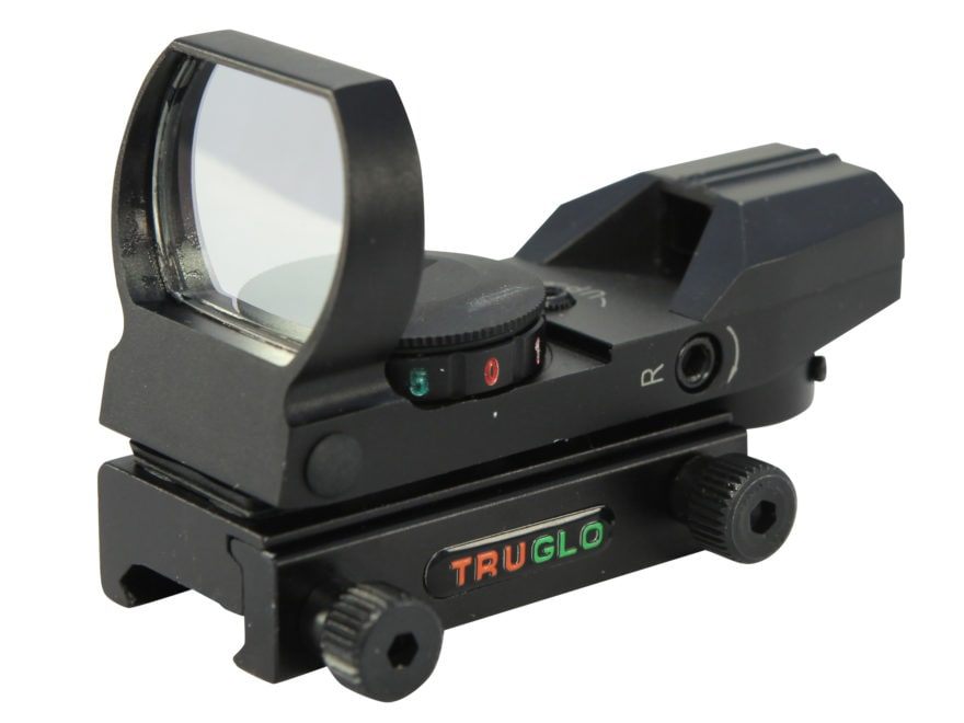 TRUGLO Reflex Red Dot Sight Red and Green 4-Pattern Reticle (15 MOA Peep, Crosshair, 3 ...