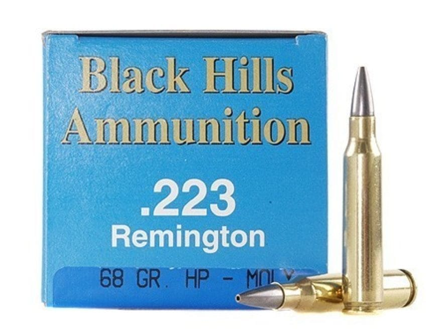 Black Hills Remanufactured Ammunition 223 Remington 68 Grain Match Hollow Point Moly Bo...