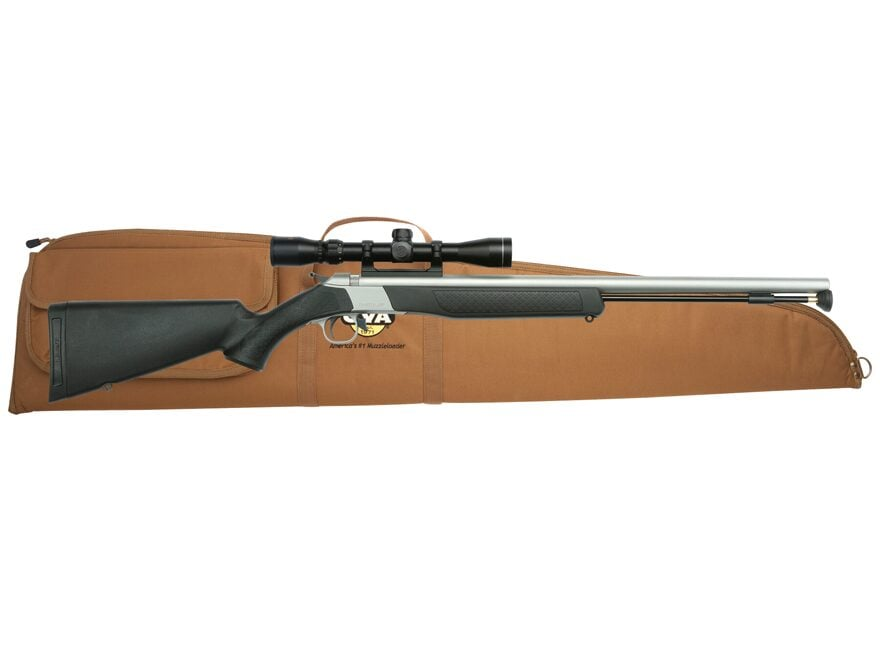 CVA Wolf Muzzleloading Rifle 50 Caliber with KonuShot 3-9 x 32mm Scope Black and Stainl...