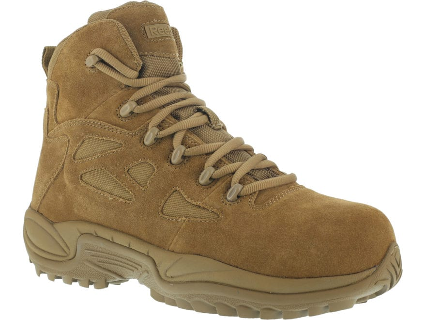 """Reebok Rapid Response RB 6"""" Composite Safety Toe Side-Zip Tactical Boots Leather/Nylon ..."""