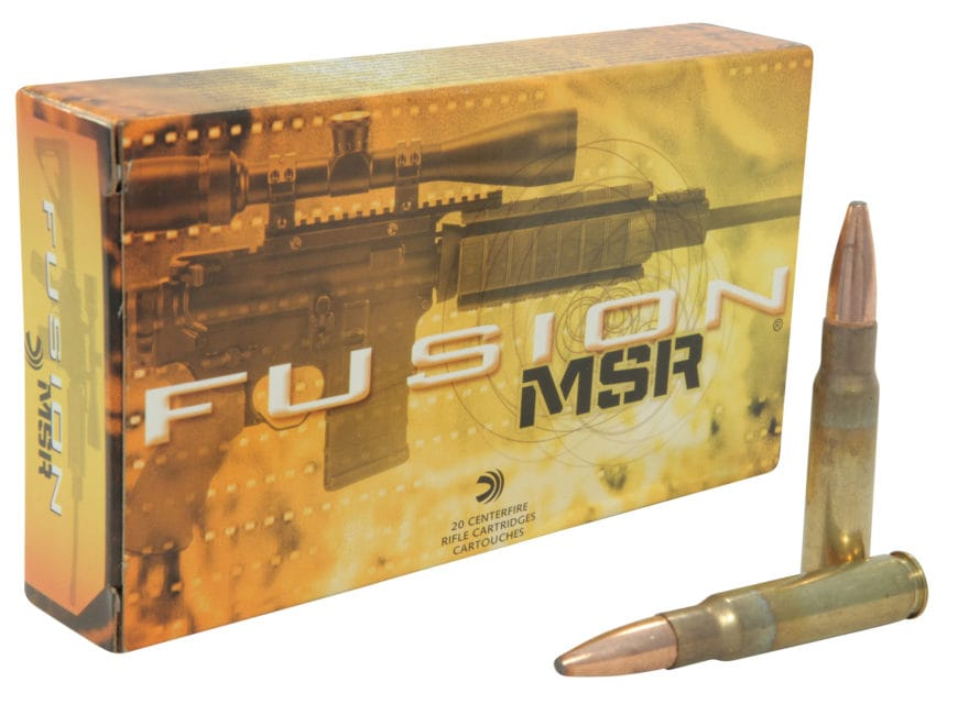 Federal Fusion MSR Ammunition 338 Federal 185 Grain Spitzer Boat Tail Box of 20