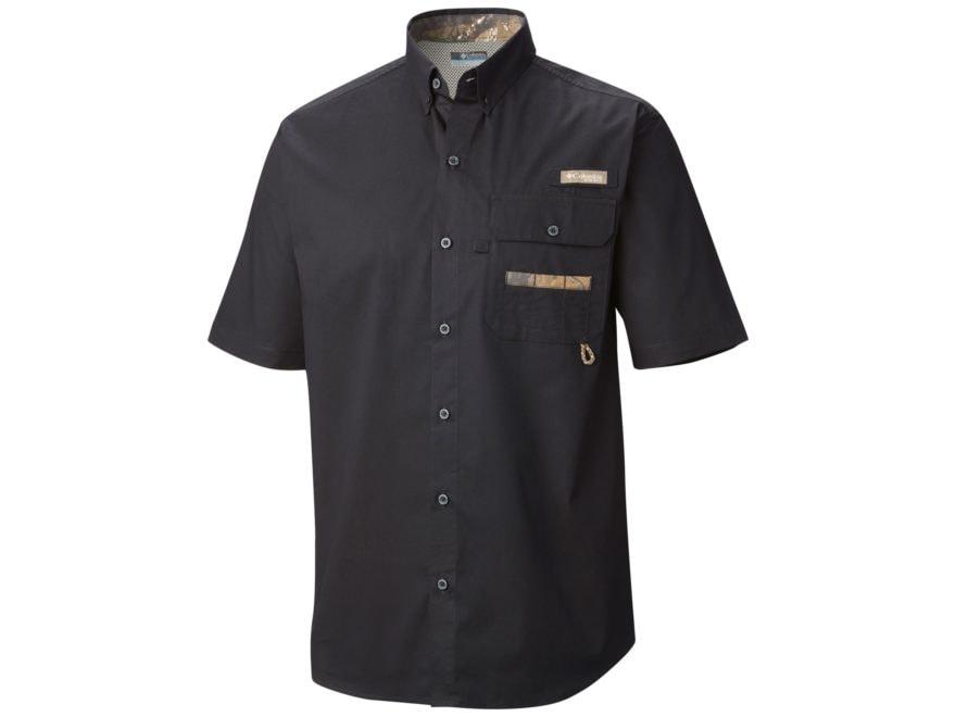 Columbia Men's PHG Sharptail Button-Up Shirt Short Sleeve Cotton