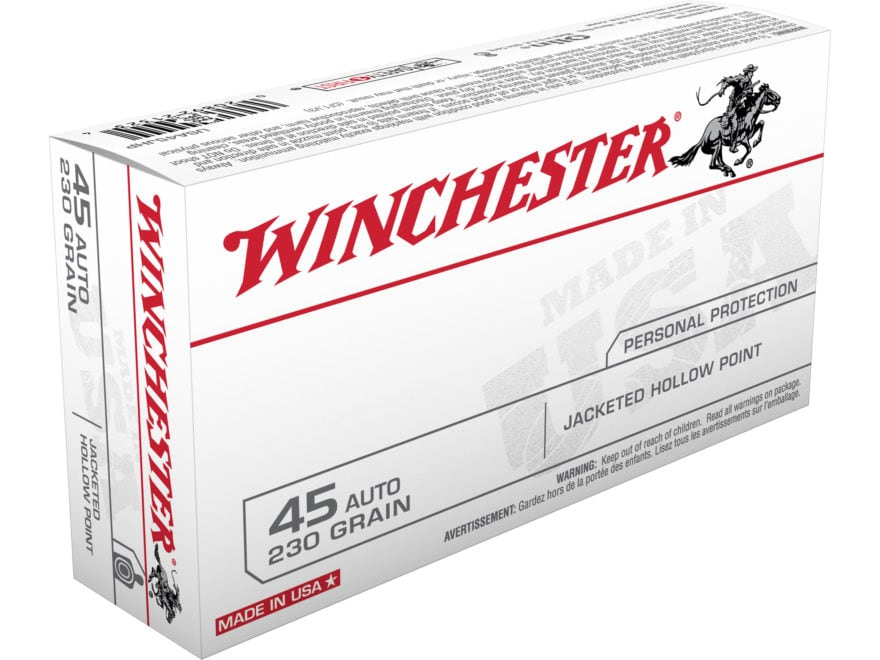 Winchester USA Ammunition 45 ACP 230 Grain Jacketed Hollow Point