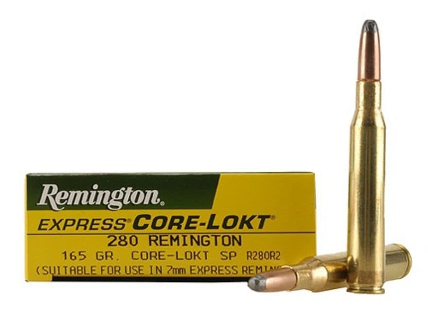 Remington Express Ammunition 280 Remington 165 Grain Core-Lokt Soft Point Box of 20