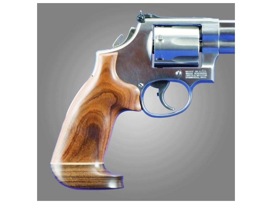 Hogue Fancy Hardwood Grips with Accent Stripe Colt Trooper Mark III Oversize Pau Ferro