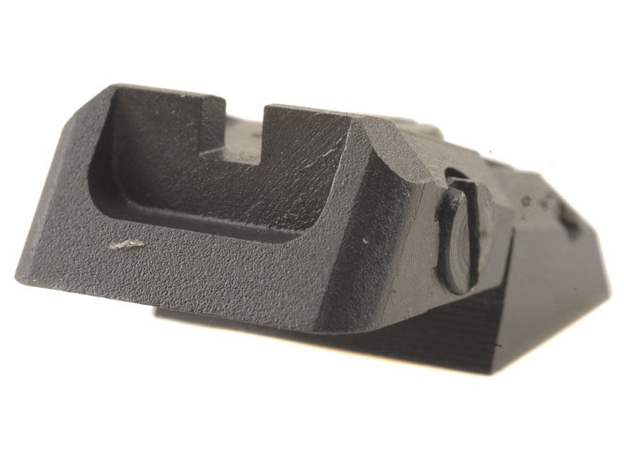 Kensight Adjustable Defensive Rear Sight 1911 Novak LoMount Cut Steel Black Recessed Blade
