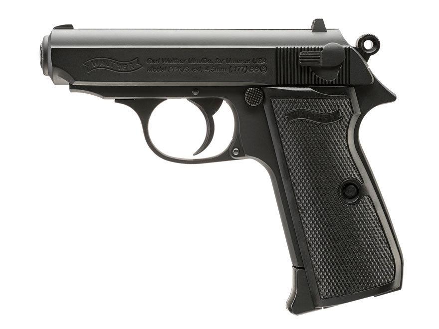 Walther PPK/S Air Pistol 177 Caliber BB Black