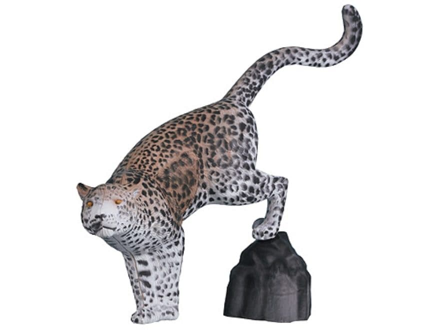 Rinehart Leopard with Rock 3D Foam Archery Target