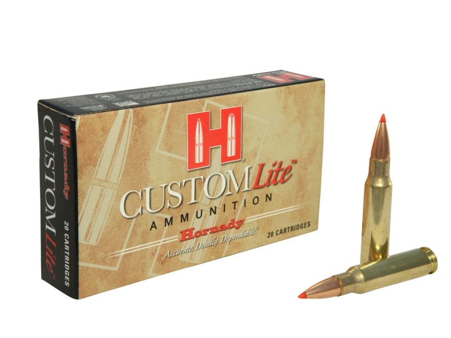 Hornady Custom Lite Ammunition 308 Winchester 125 Grain SST Box of 20