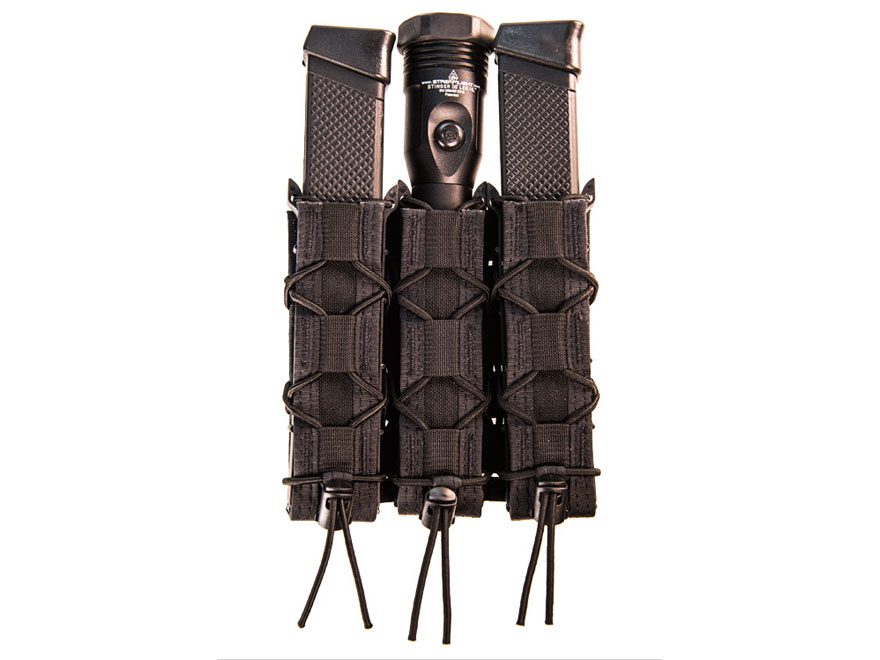High Speed Gear Triple MOLLE Extended Pistol Shingle Magazine Pouch Nylon
