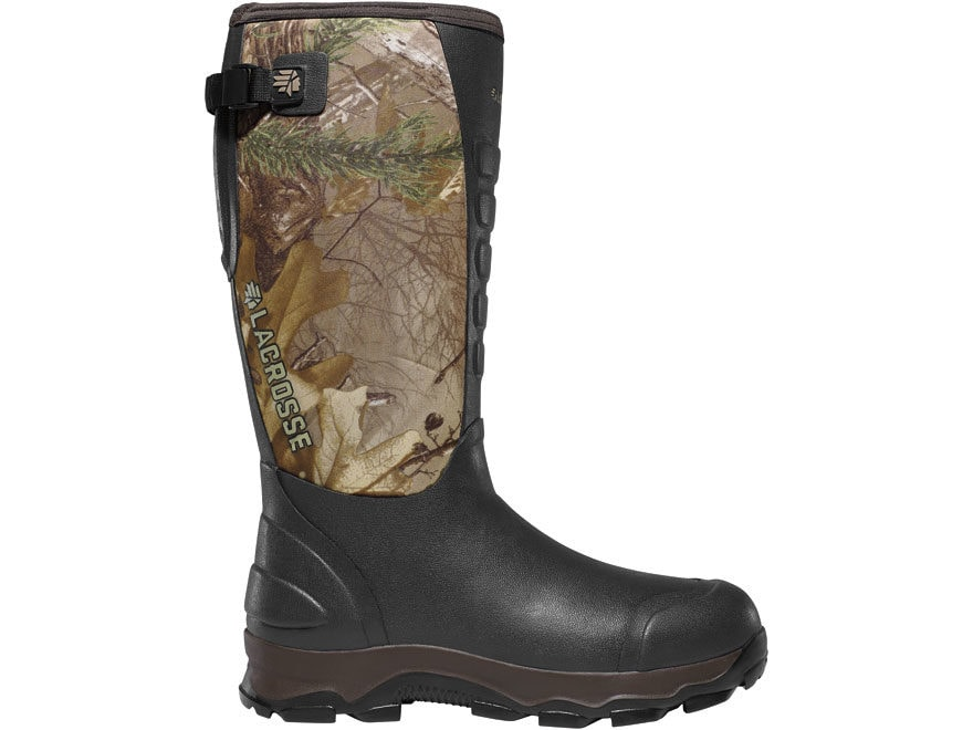 "LaCrosse 7mm 4XAlpha 16"" Hunting Boots Hand-Laid Premium Rubber Over Neoprene Men's"