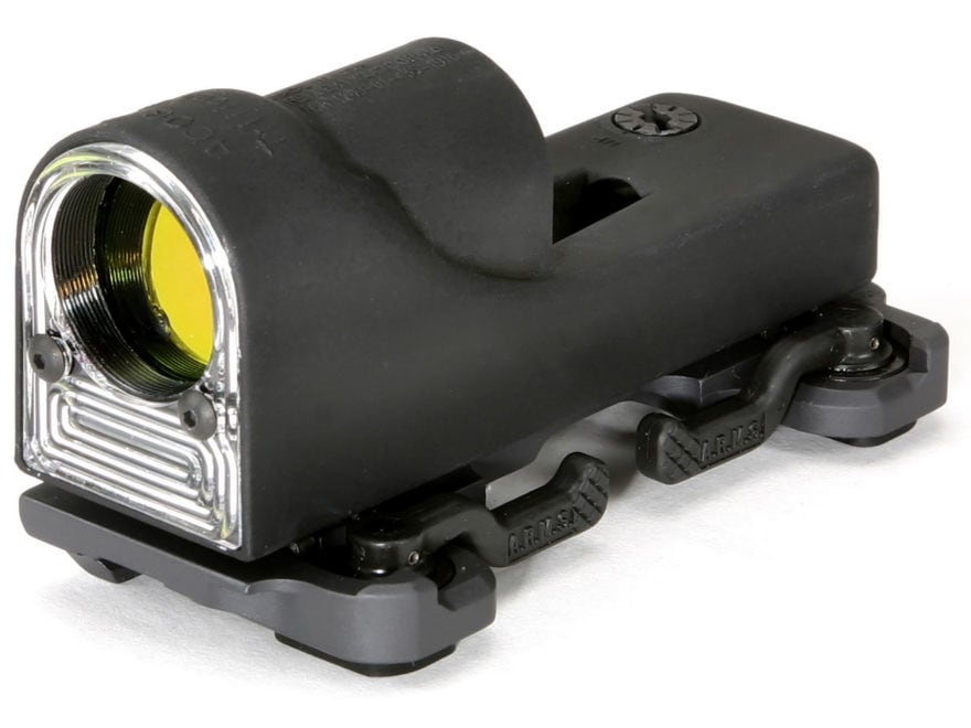 Trijicon RX06-14 Reflex Sight 1x 24mm 12.9 MOA Dual-Illuminated Amber Triangle with A.R...
