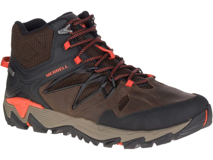 """Merrell All Out Blaze 2 Mid 5"""" Waterproof Hiking Boots Leather/Nylon Men's"""