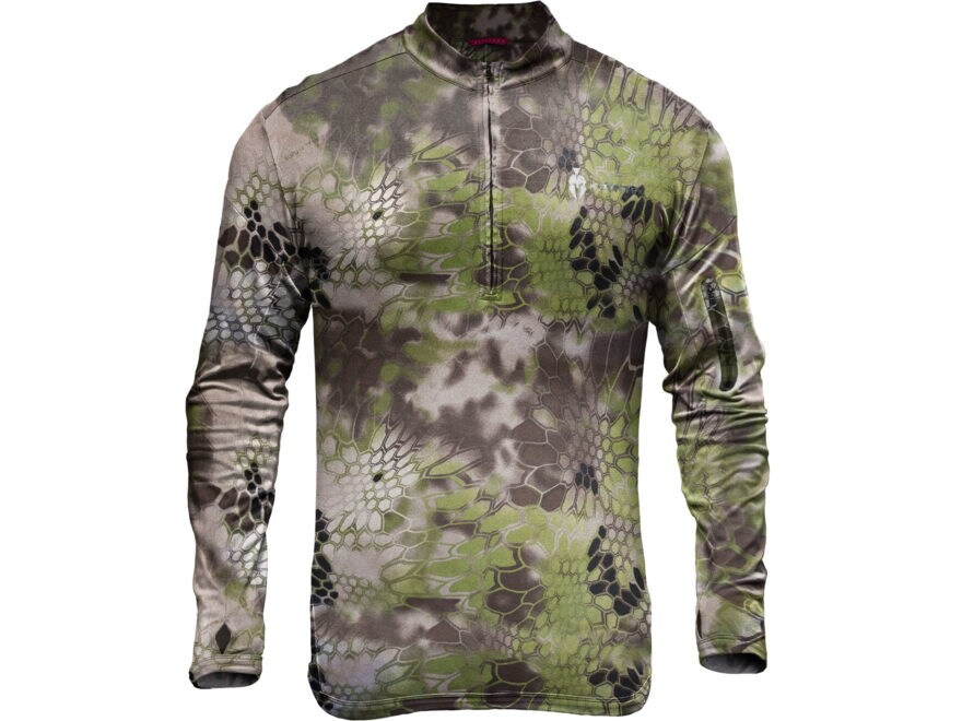 Kryptek Altitude Men's Tora 1/4 Zip Shirt Long Sleeve Nylon