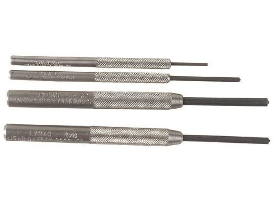 Lyman Roll Pin Punch Set 4-Piece Steel