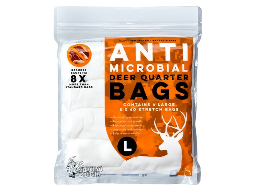 Koola Buck Anti-Microbial Game Meat Bag Large Synthetic Blend Pack of 4