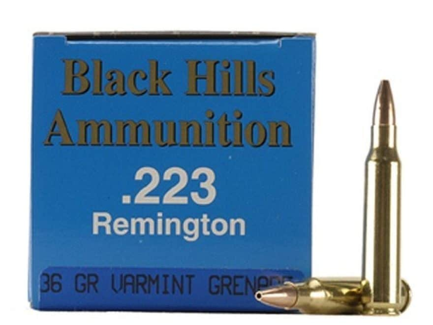 Black Hills Remanufactured Ammunition 223 Remington 36 Grain Barnes Varmint Grenade Hol...
