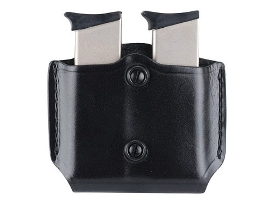 Gould & Goodrich B851 Belt Double Magazine Pouch Leather Black