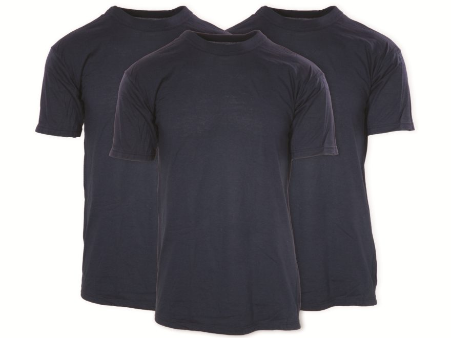 Military Surplus T-Shirt Short Sleeve Cotton Navy Pack of 3