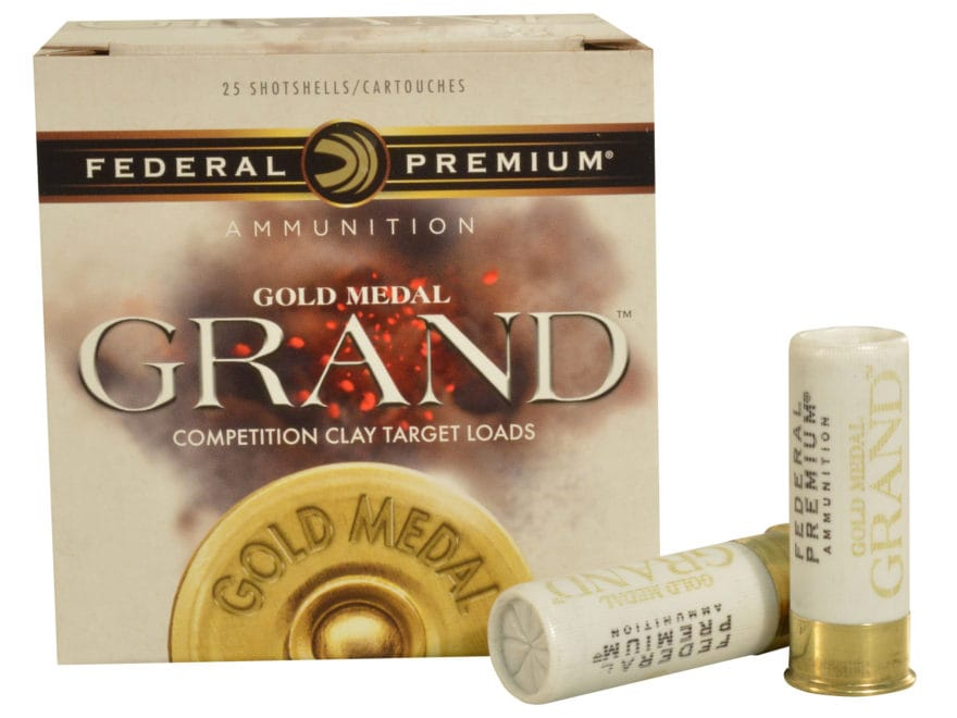"Federal Premium Gold Medal Grand Handicap Ammunition 12 Gauge 2-3/4"" 1-1/8 oz"