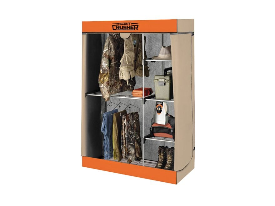 Scent Crusher Hunter's Closet Ozone Scent Elimination Device Tan and Orange