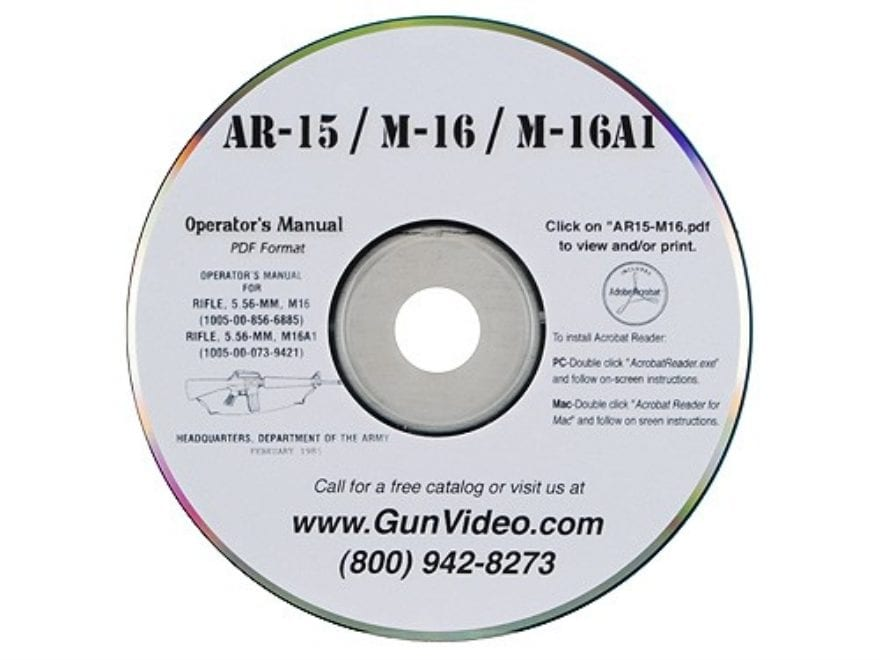 "Gun Video ""AR-15 Operators Manual"" CD-ROM"