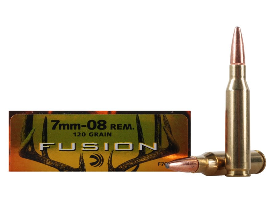 Federal Fusion Ammunition 7mm-08 Remington 120 Grain Spitzer Boat Tail Box of 20
