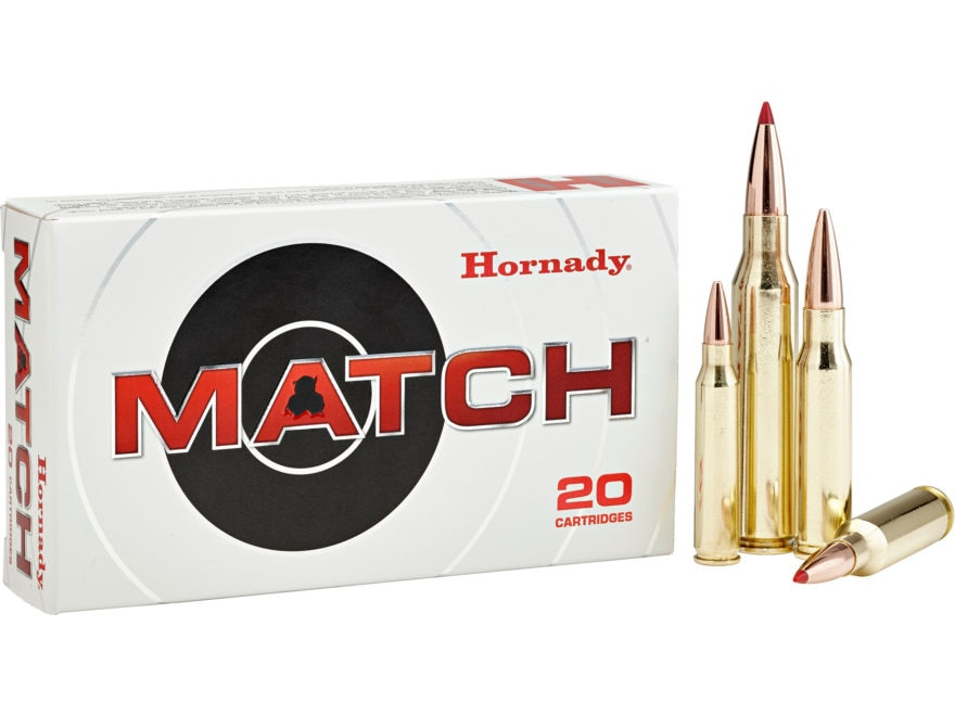 Hornady Match Ammunition 223 Remington 68 Grain Hollow Point Boat Tail Box of 20