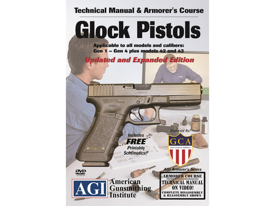 "American Gunsmithing Institute (AGI) Technical Manual & Armorer's Course Video ""Glock P..."