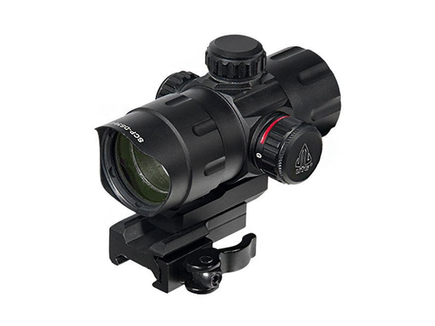 Leapers UTG Red Dot Sight 32mm 1x Red and Green T-Dot with Riser and Quick-Detach Weave...
