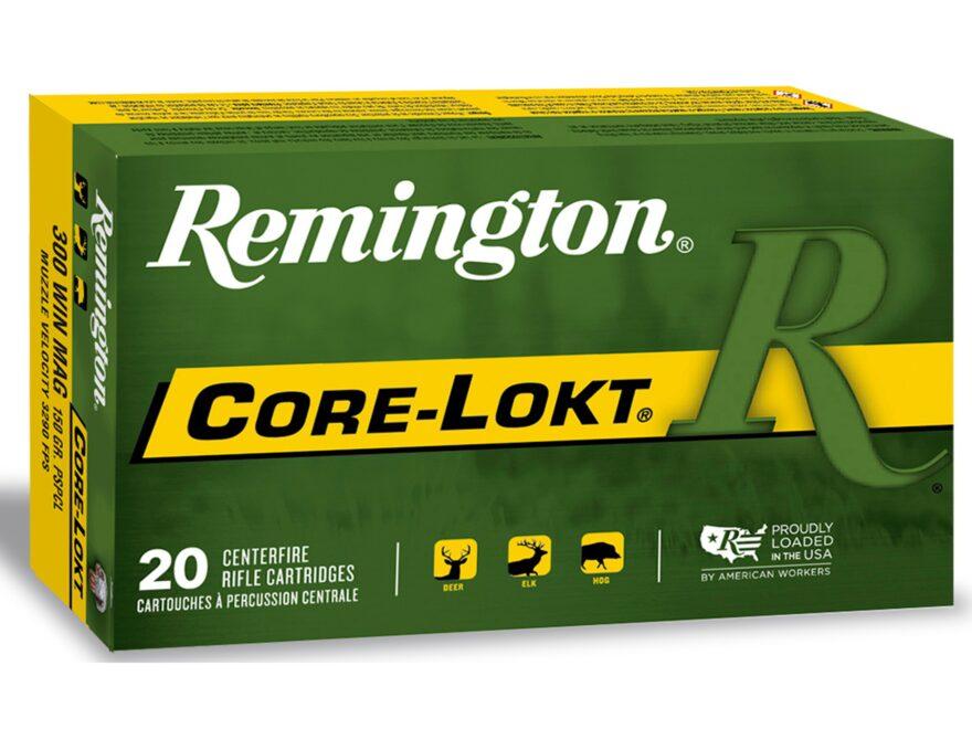 Remington Express Ammunition 300 Winchester Magnum 150 Grain Core-Lokt Pointed Soft Poi...