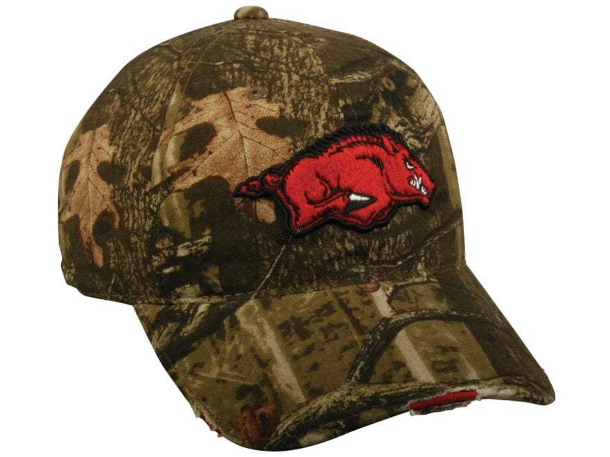 81ebf64cca6 Outdoor Cap Collegiate Series Camo Logo Cap University of Arkansas Mossy  Oak Break-Up I