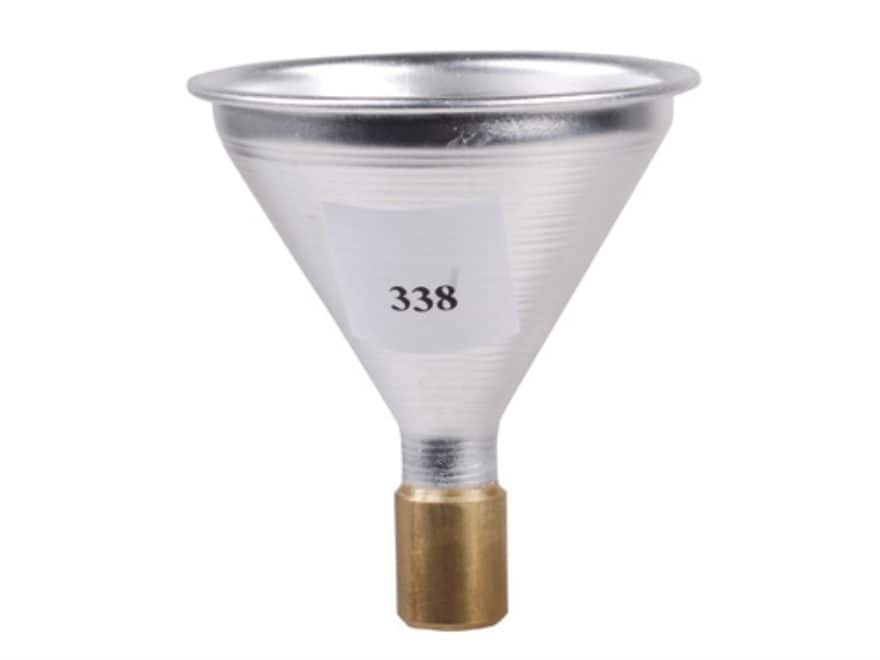 Satern Powder Funnel 338 Caliber Aluminum and Brass