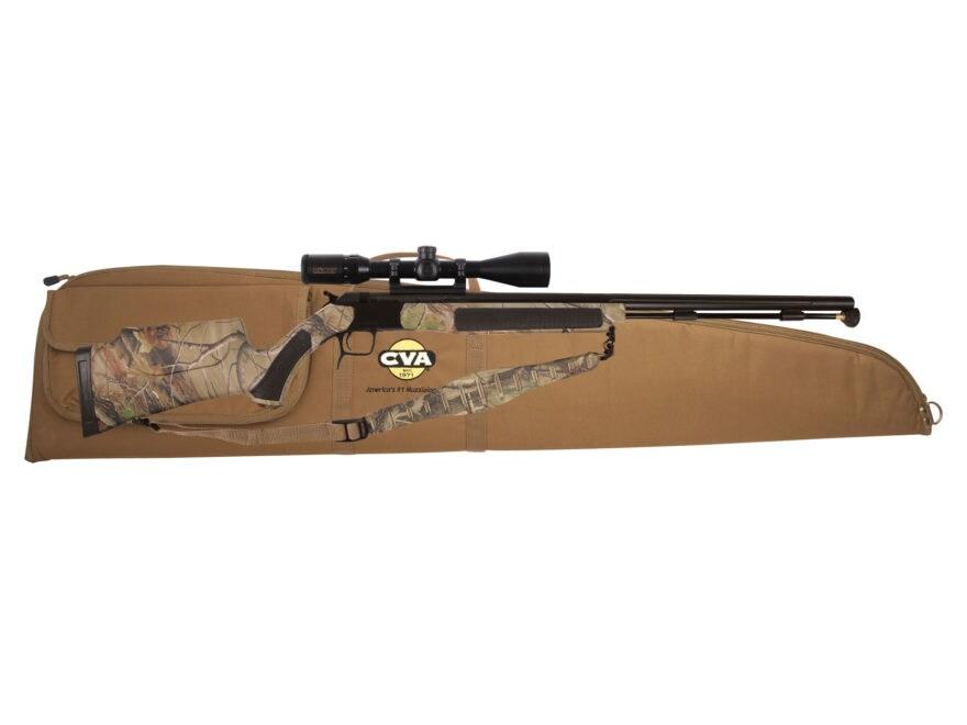"CVA Accura V2 Muzzleloading Rifle with KonusPro 3-9 x40mm Scope 50 Caliber 27"" Fluted N..."