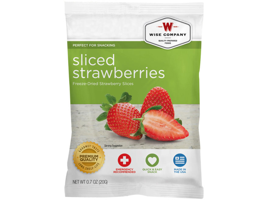 Wise Company Long Term 25 Year 4 Serving Strawberry Slices Freeze Dried Food