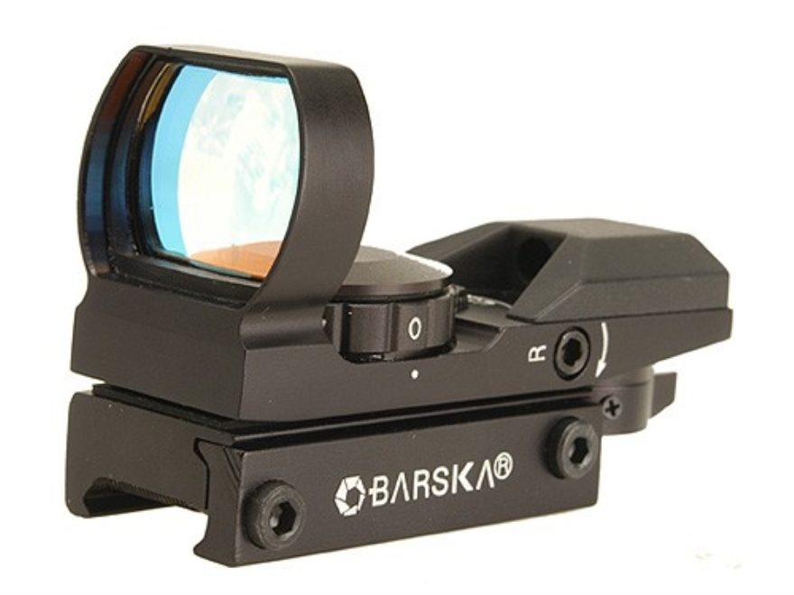 Barska Reflex Red Dot Sight 4-Pattern Reticle (10 MOA Circle with 2 MOA Dot, Crosshair,...