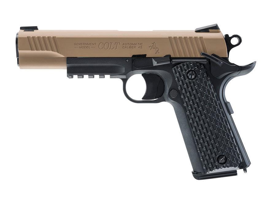 Colt M45 Blowback Air Pistol 177 Caliber BB Synthetic Grip Black