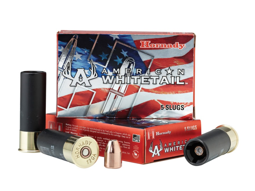 "Hornady American Whitetail Ammunition 12 Gauge 2-3/4"" 325 Grain Interlock Hollow Point ..."