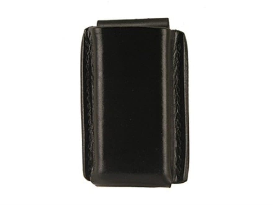 Galco Quick Single Magazine Pouch 40 S&W, 9mm Double Stack Polymer Magazine Leather Black